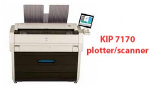 Lease a KIP 7170 plotter and scanner